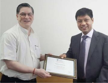 ITRC Recieves Certificate For NSDC Training Partner From Mr Dilip Chenoy NSDC CEO & MD