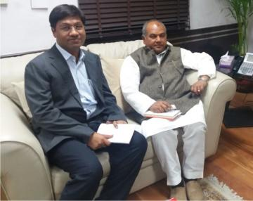 ITRC Chairman & Founder, CA Rizwan khan With MrNarendra Singh Tomar  Honorable Minister of Steel & Mines